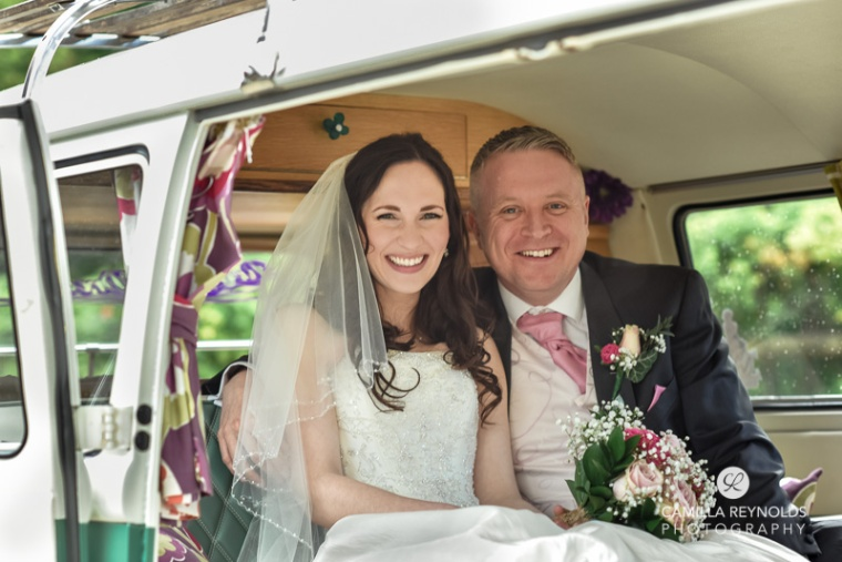 cripps barn wedding photography cotswolds camper van