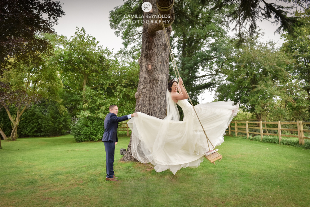 natural wedding photography Eastington park swing