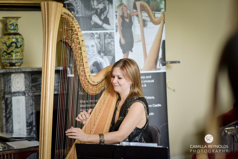 harpist elmore court wedding photographers