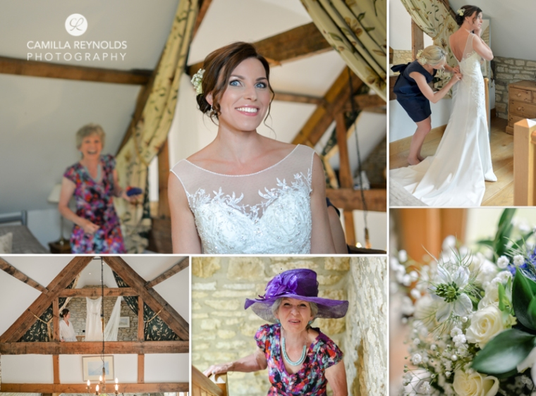 bride getting ready Cotswold natural wedding photographers