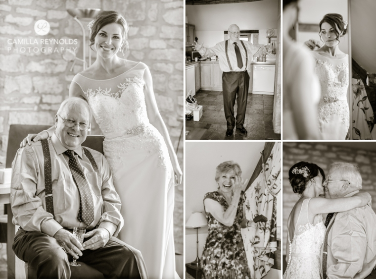 bride and dad Cotswold natural wedding photographers