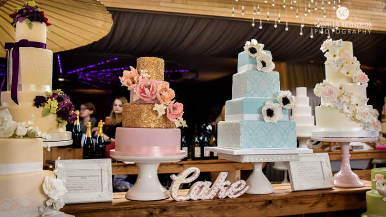 three tiar cakes elmore court wedding photographers