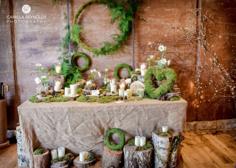 wood and moss wedding decor elmore court weddings photographers