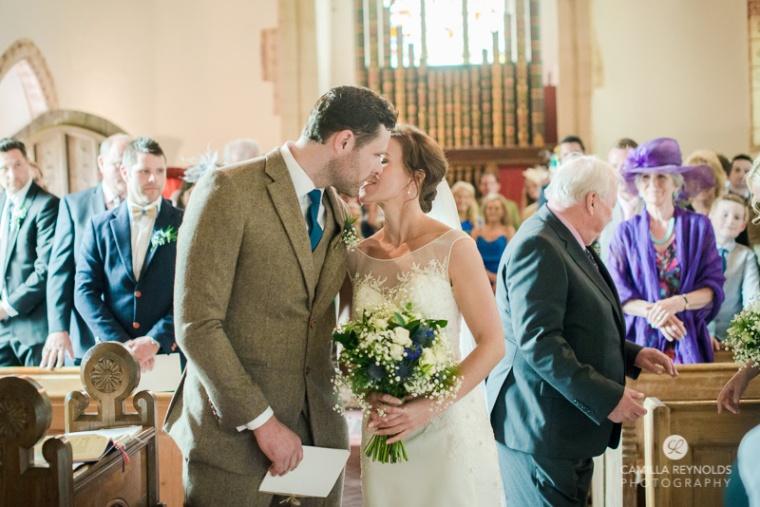 Hampnett church wedding photography Cotswold Gloucestershire