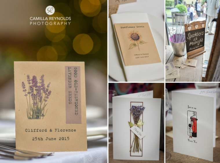 seed wedding favours Cripps Barn photographers Cotswolds