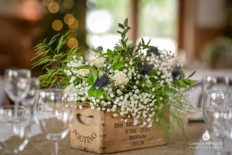 flower arrangements Cripps Barn wedding photographers Cotswolds