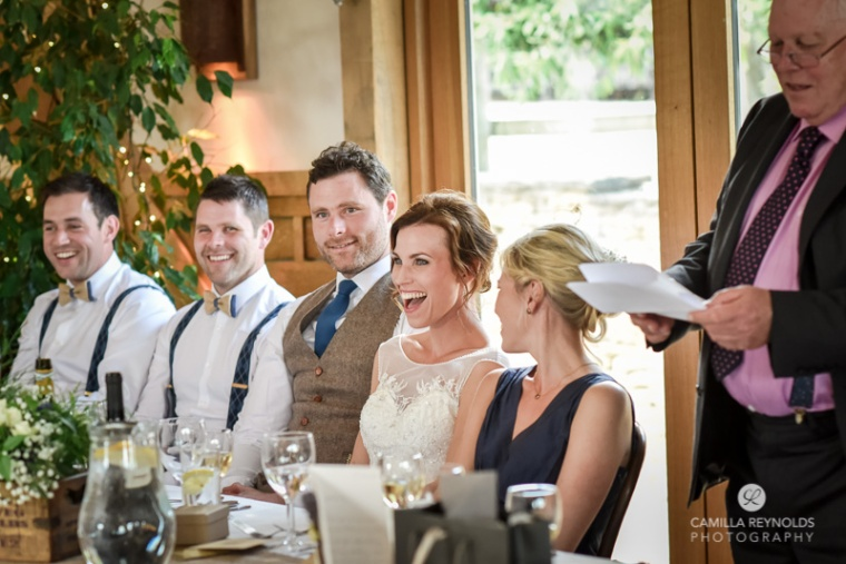 speeches wedding reception Cripps Barn photographers Cotswolds