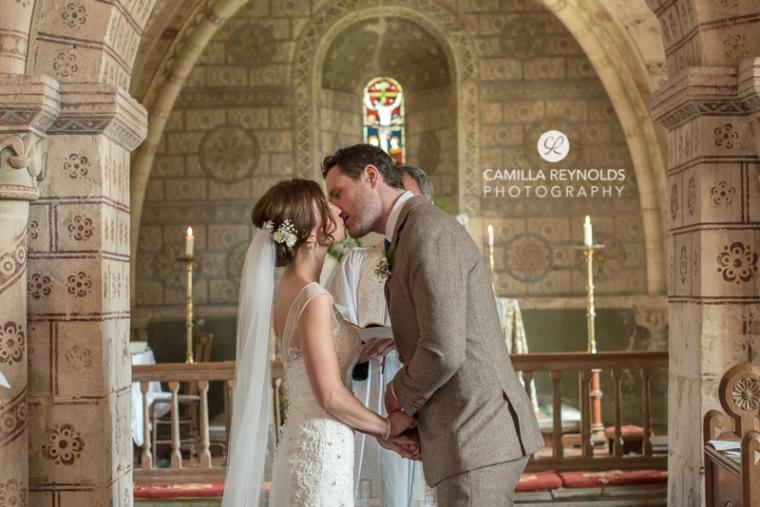 Cotswold church wedding photography Hampnett Gloucestershire