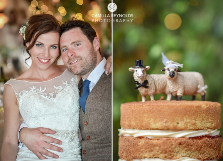 Cripps Barn wedding photography cake toppers sheep