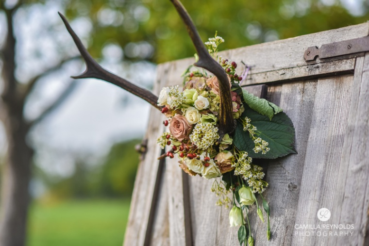 elmore court wedding photographers antlers flowers