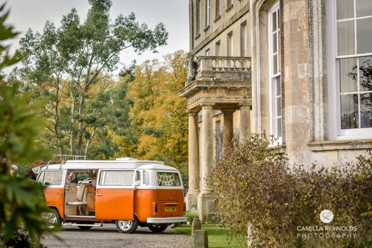 elmore court wedding photography camper van wv orange