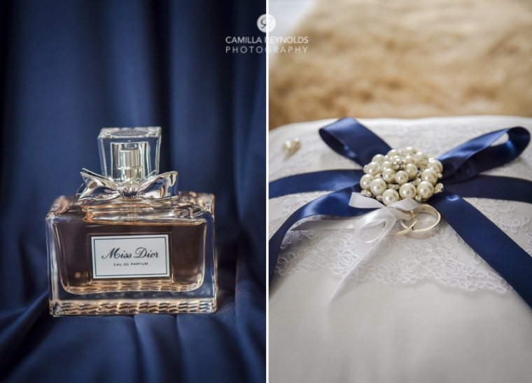 navy wedding theme Eastington park Gloucestershire