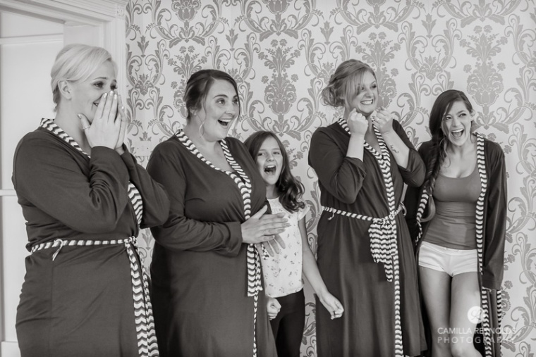 Bridesmaids Eastington park wedding Gloucestershire