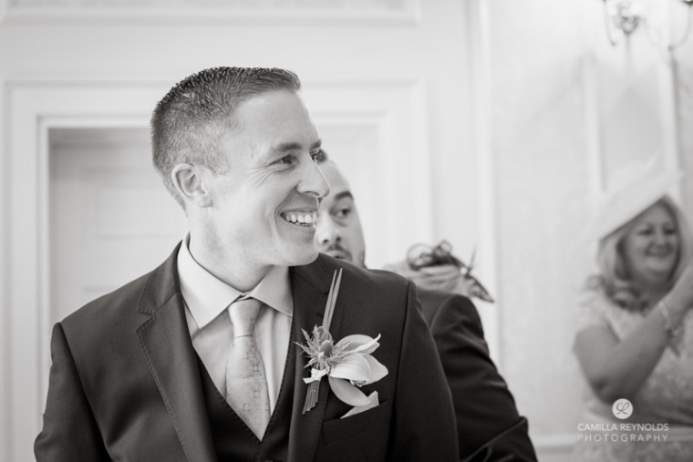 Groom Cotswold wedding Eastington park