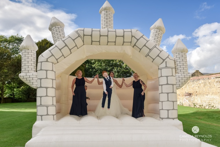 bouncy castle Eastington park wedding photographers