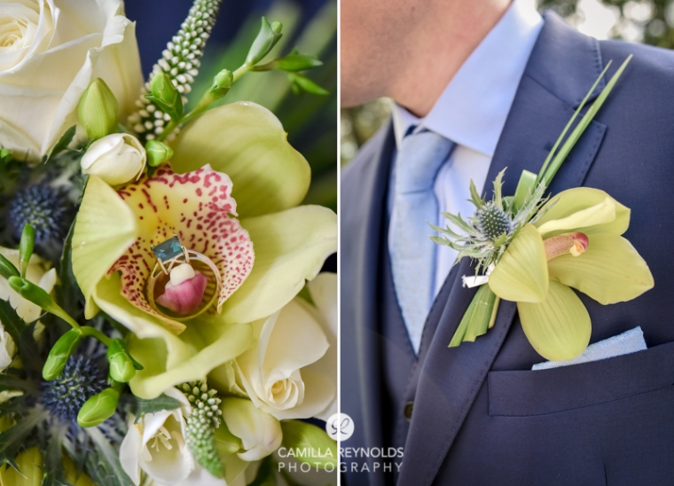 orchid buttonhole Cotswold wedding flowers