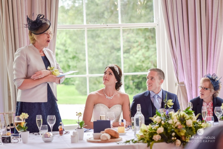 speeches Cotswold wedding Eastington park