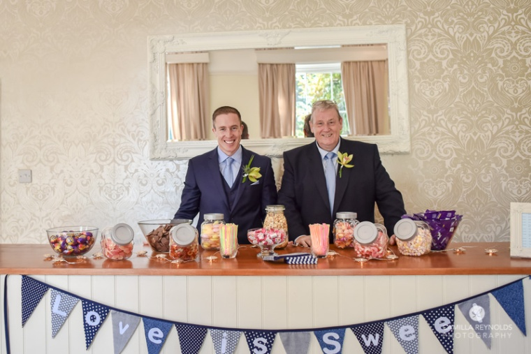 sweets table natural wedding photography Eastington park