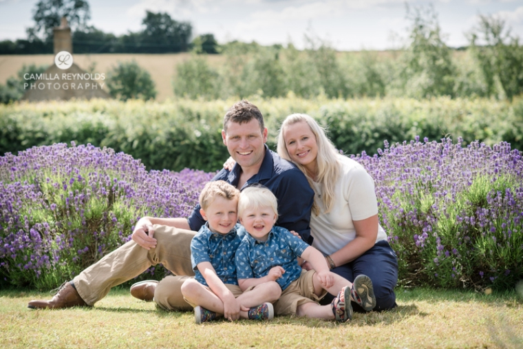 family photo shoot Cotswold lavender