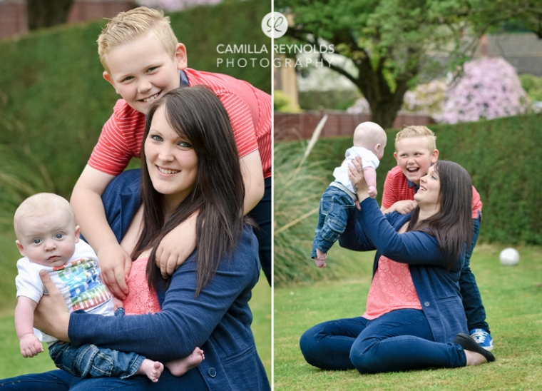 family photo shoot mum and children