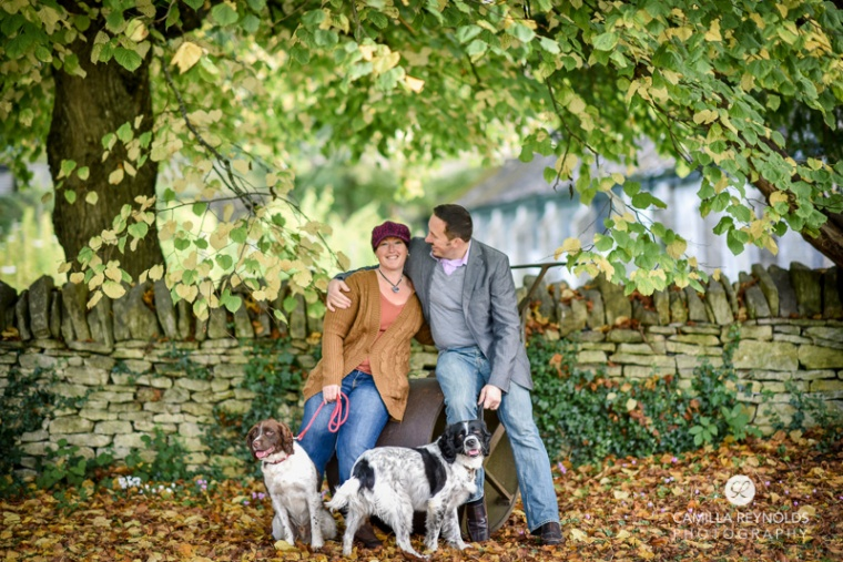 couple dogs engagement photography the bear of rodborough