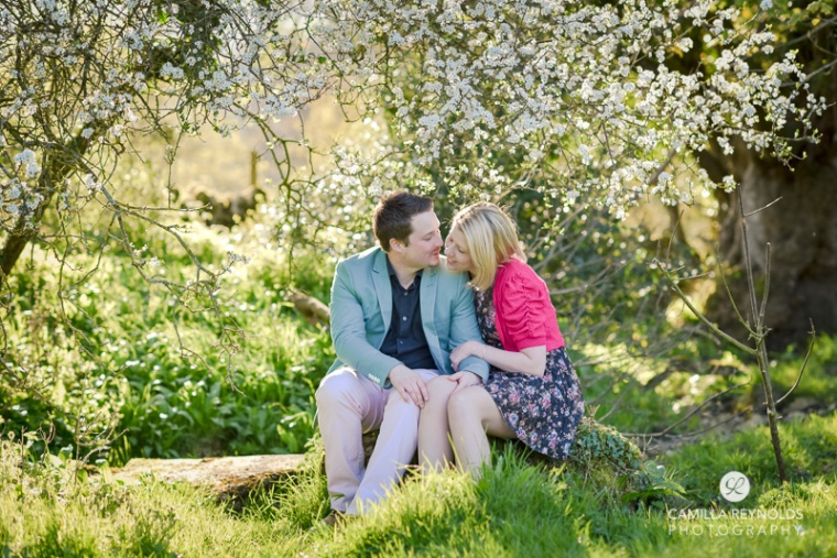 natural beautiful engagement wedding photography Cotswolds