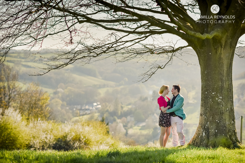 couple engagement photography Cotwolds
