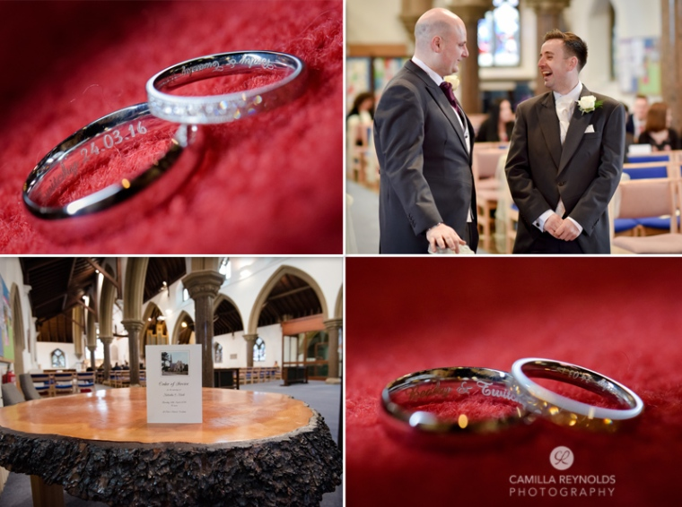 church wedding rings Cotswolds