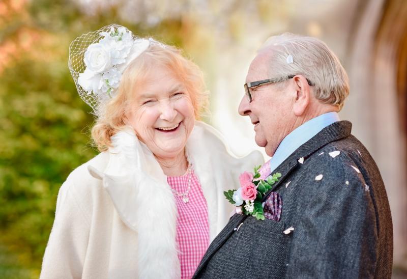 old couple wedding