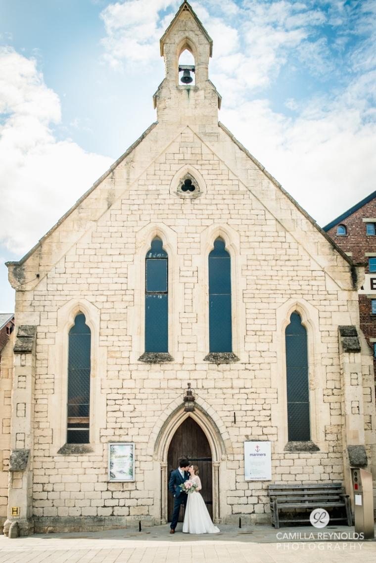 Gloucester docks wedding photography Mariners church (13)