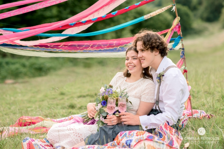 festival style cotswold wedding