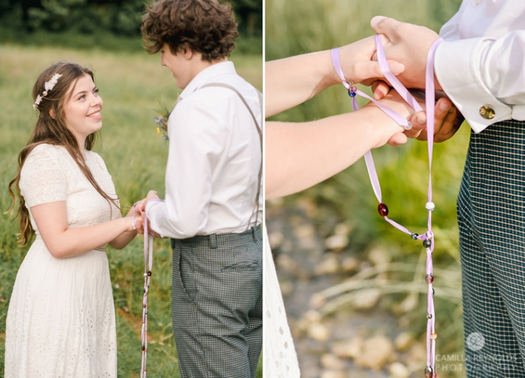 hand fasting wedding Cotswolds
