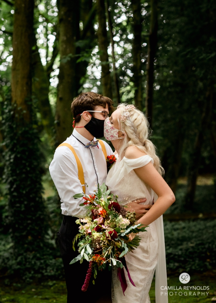 covid wedding face mask photography