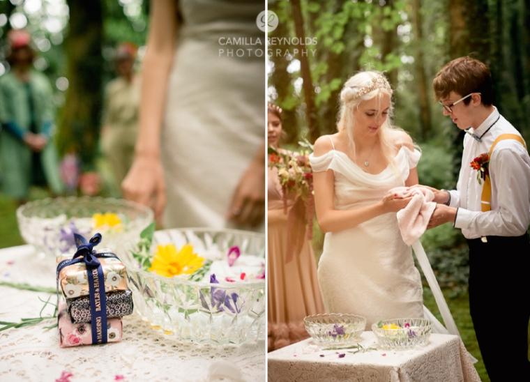hand washing wedding matara cotwolds