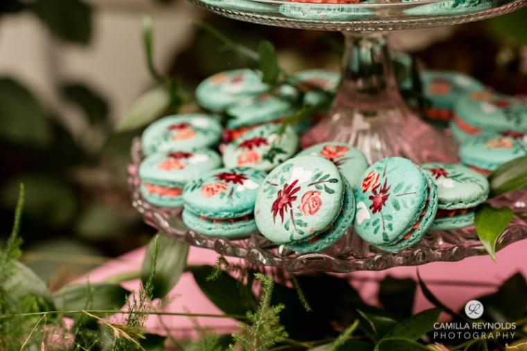 wedding cake macarons Cotwolds matara