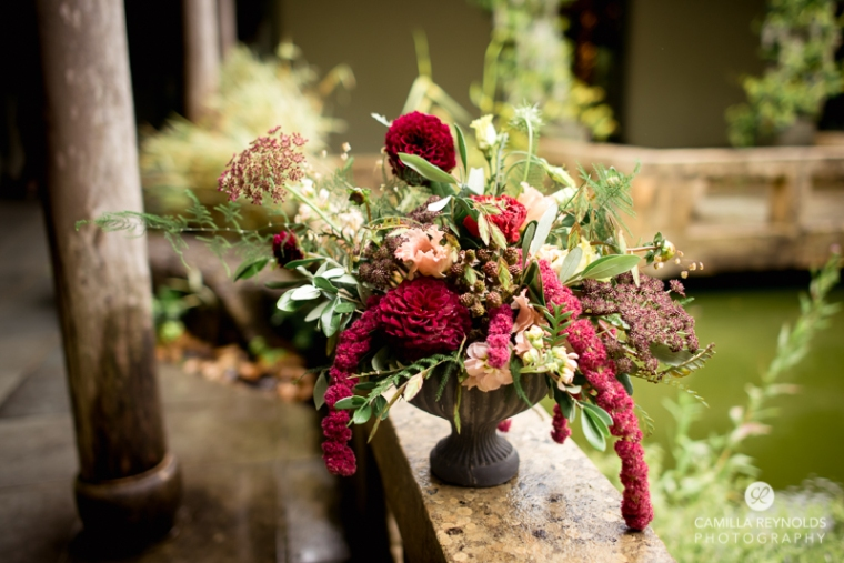 wedding flowers Wiltshire persephone violet