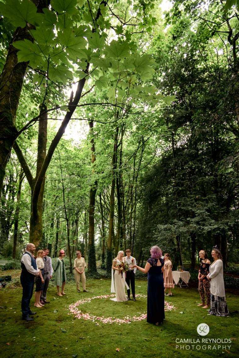 woodland wedding celebrant Cotwolds