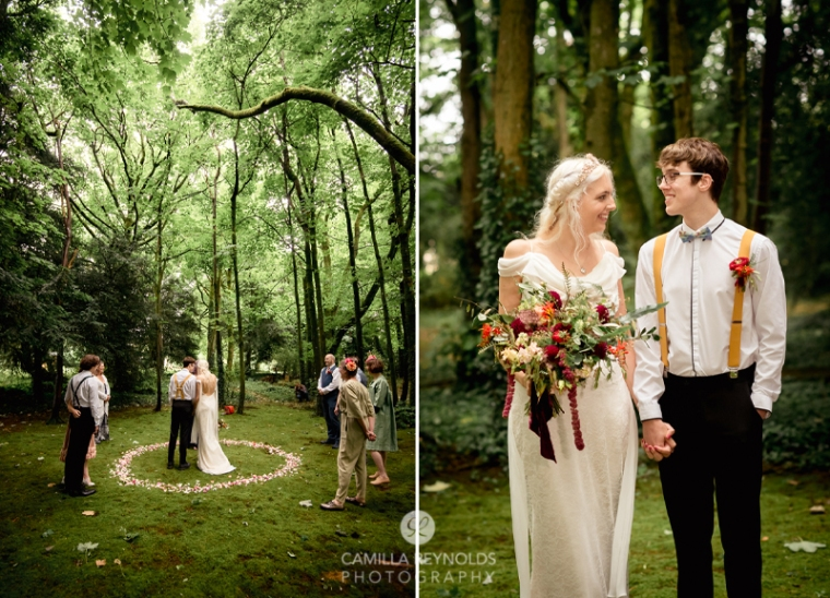 woodland wedding ceremony matara