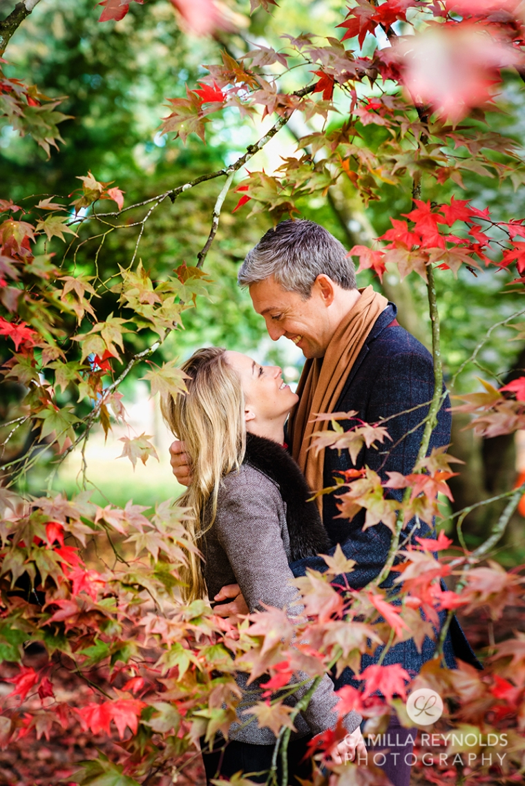 autumn engagement couple wedding photo session Cotwolds Gloucestershire