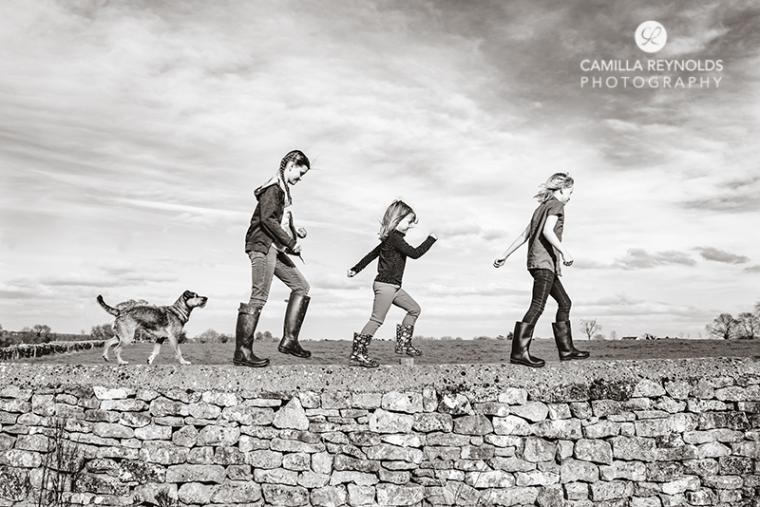 children damily pet fun photo session shoot Cotswolds