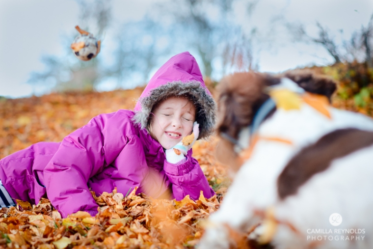 children dog family photo shoot Cloucestershire