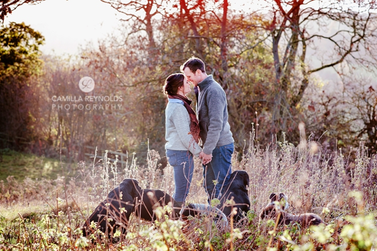 couple family natural photo shoot with dogs Cotswolds