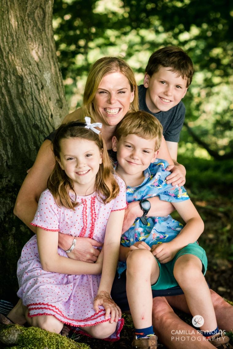 family photo shoot woods Stroud Gloucestershire