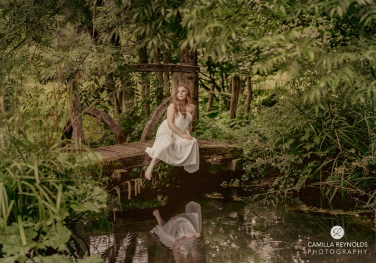 fine art photography girl bridge cotswold photographer