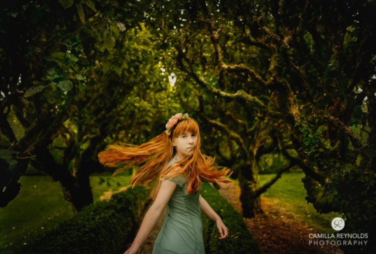 fine art photography mood girl redhead Cotswolds