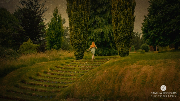 girl steps fairytale fine art photographer Cotswolds