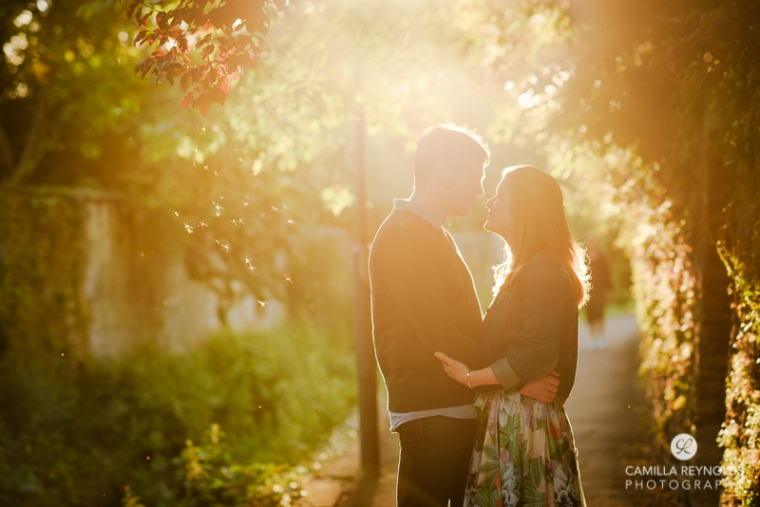golden hour engagement wedding photography Cotwolds