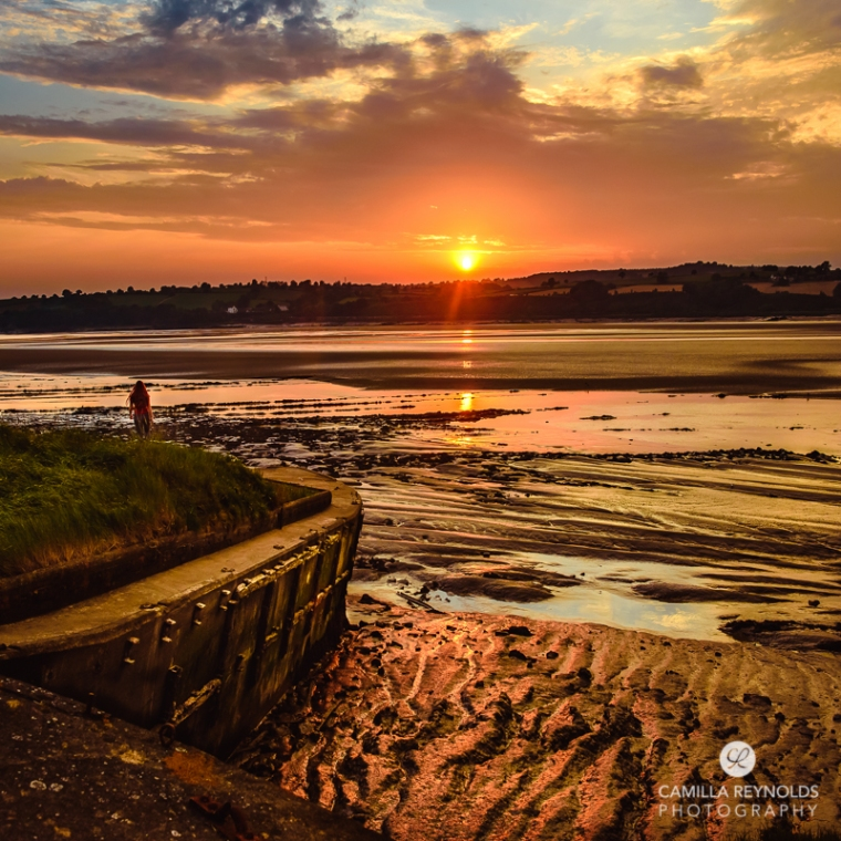 landscape sunset space photography purton hulks Gloucestershire