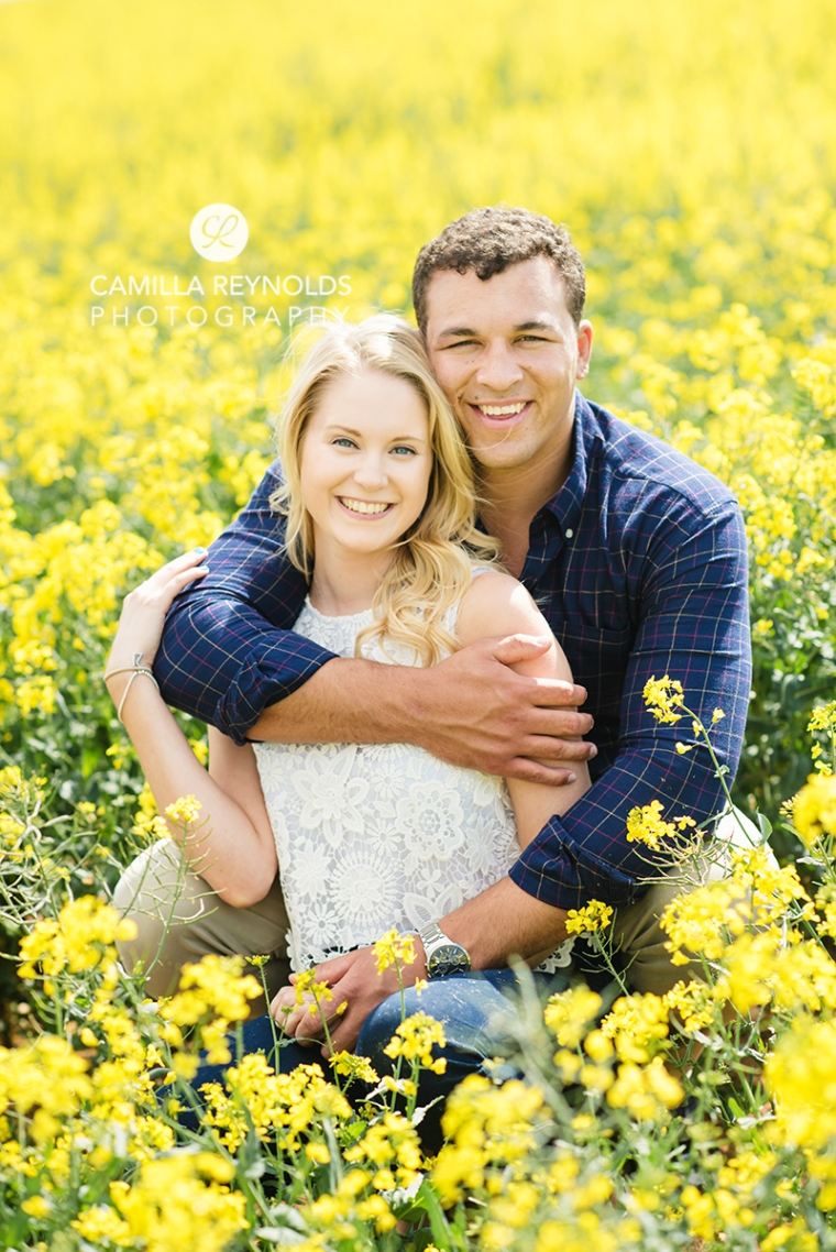 natural relaxed couple weddng photography yellow field Cotswolds