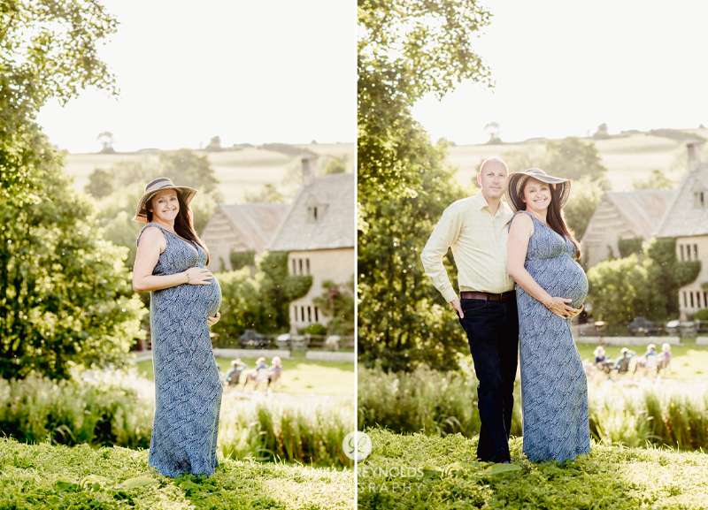 pregnancy photo session Cotwolds
